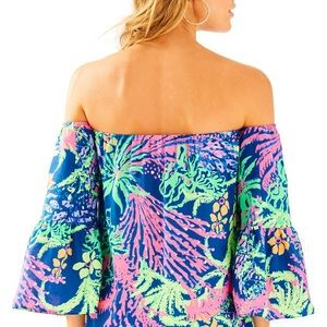 Lilly Pulitzer Sanilla Off The Shoulder Top